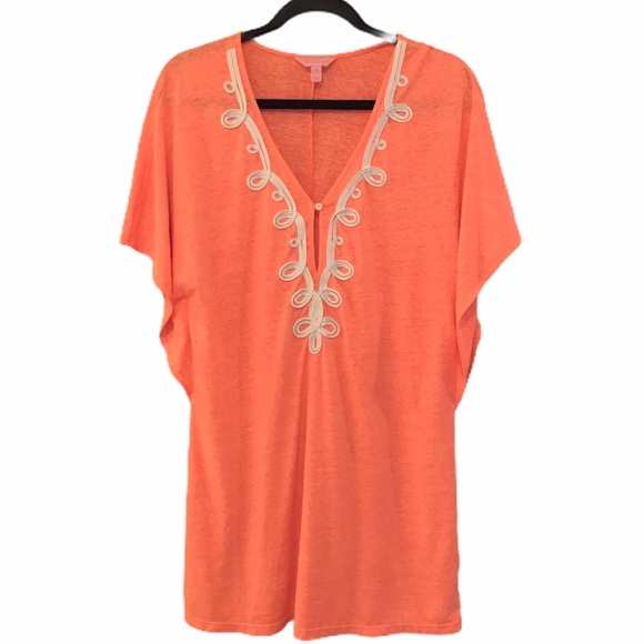 Lilly Pulitzer Balleta Swim Cover-up XS papaya